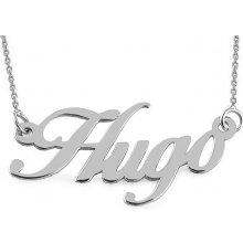 iZlato Forever Zlatá biela retiazka s menom Hugo IZ9093A 4baf544380e