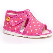 Papuče ružová bodka