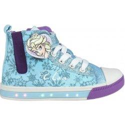 Disney Brand Dievčenské blikajúce členkové tenisky Frozen tyrkysové ... f690a992861
