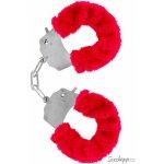 ToyJoy Furry Fun Cuffs Red Plush