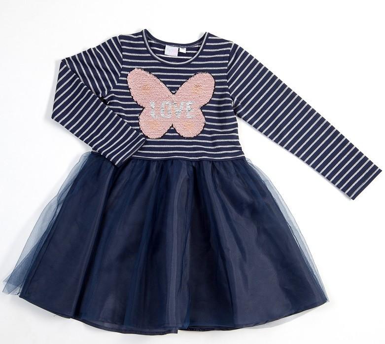 Topo Dievčenské šaty s tylovou sukňou modré - Zoznamtovaru.sk ab275be6973