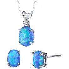 d7d43ed38 Eppi zlatá kolekcia šperkov s modrými oválnymi opálmi a diamantom Saliha  C223101