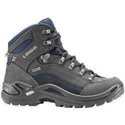 45c9b541203 Lowa Renegade GTX Mid W dark grey navy dámské nepromokavé kožené trekové  boty