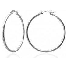 2986e28cd Šperky eshop náušnice z chirurgickej ocele veľké kruhy, strieborná farba  G21.7
