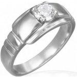 Šperky eshop Zásnubný prsteň z chirurgickej ocele s očkom na širšom  podklade D8.1 a78d715730e