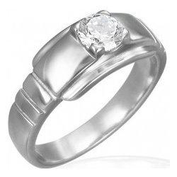 Recenzie Šperky eshop Zásnubný prsteň z chirurgickej ocele s očkom na širšom  podklade D8.1 - Heureka.sk 1726f67ed4e