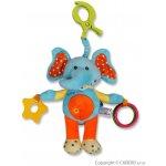 Baby Mix plyšová hračka s hrkálkou Sloník