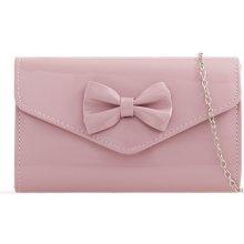 98539a19d listová kabelka s mašličkou K-H2518 Ružová