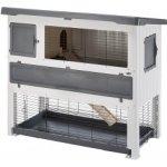 Ferplast Plastová klietka pre zajace GRAND LODGE 140 PLUS GREY,134x73x117 cm
