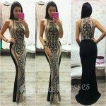 Spoločenské šaty s priesvitným tylom a flitrami c0bea3fab67