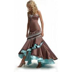 Krásne hnedo-modré Spoločenské šaty F M Paris alternatívy - Heureka.sk f78e874c500