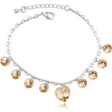 Swarovski Elements náramok crystal Hearts 2014 7d341dc23ea
