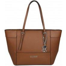 Guess Elegantní kabelka Delaney Small Classic Tote Brown