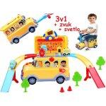 7bee9b335 JOKO Autobus cesta pre autá 3v1 so svetlom a zvukom žltý