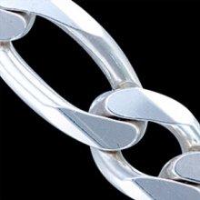 Silver.ag Retiazka strieborná, 1002-400 Figaro 6L Dĺžka: 55cm C0632