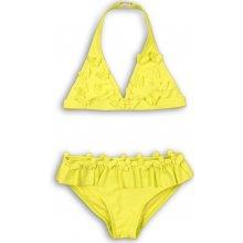 Minoti dievčenské dvojdielne plavky s motýlikmi Bikini žlté 131efc68e0
