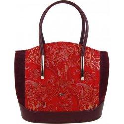 1fb9d92410 Grosso elegantná kabelka s etnickým vzorom S703 Červeno-bordová ...