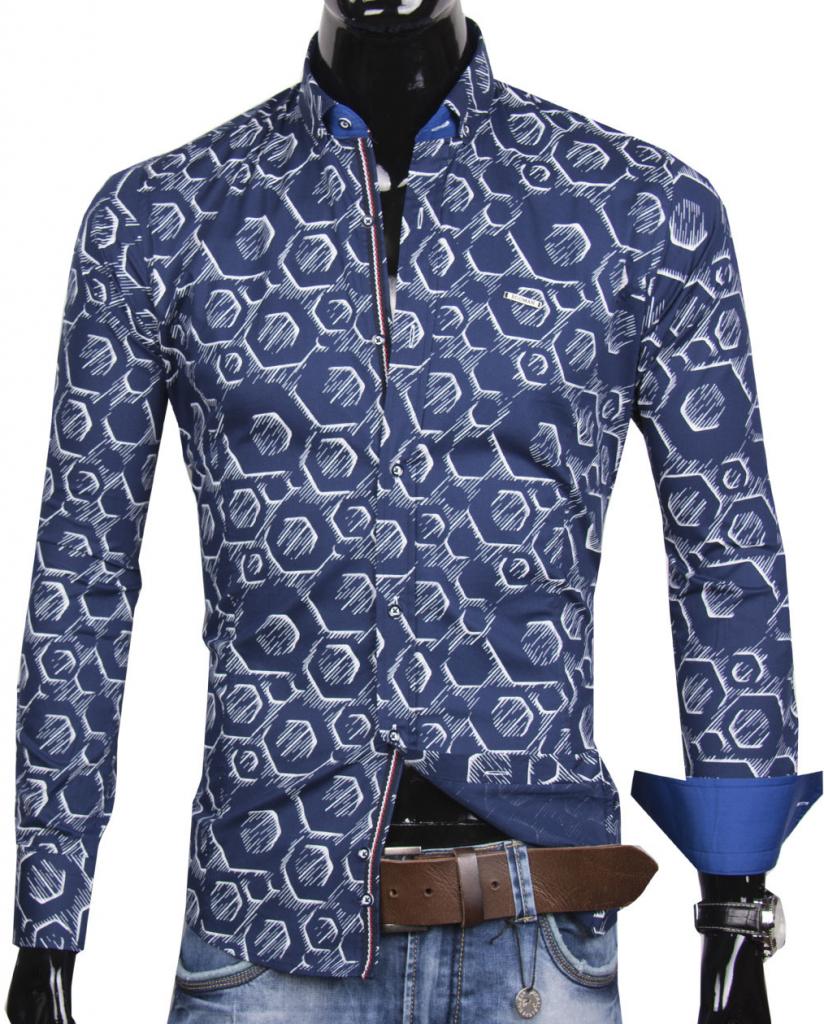 ce7330611c56 Pánska košeľa 30016-EM-360 Trendová pánska košeľa EGO MAN ...