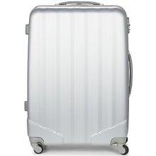 David Jones Pevné cestovné kufre CHAUVETTA 110L Strieborná