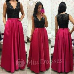 Malinové spoločenské šaty so saténovou sukňou alternatívy - Heureka.sk b5e950e3d75