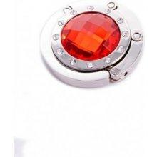 Háčik na kabelku - červený