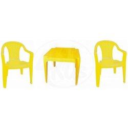 9711a454980a Grand Soleil Sada stolček a dve stoličky žltá od 14