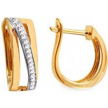 iZlato Design zlaté náušnice s diamantmi Tria IZBR315N 14d221fc53c