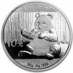 Panda Stříbrná mince 10 Yuan China 30g 2017