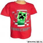 Tričko detské Minecraft červené
