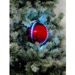 Snehové LED guľa 8 cm červená 5 ks