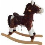 Alltoys houpací kůň závodní hnědobílý se zvukem