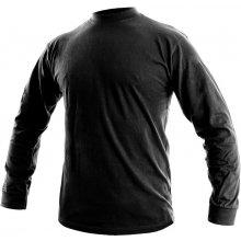 Canis Pánské tričko s dlouhým rukávem PETR Černá