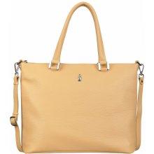 c604c54f6 Wojewodzic dámska kožená kabelka do ruky shopper jemne žltá 31804/E/