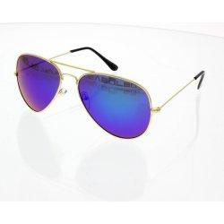VeyRey Pilotky Zrkadlovky zlaté obrúčky modré sklá alternatívy ... 46ef8b3e4ea