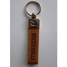 Prívesok na kľúče koženková Mazda(hnedá)