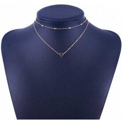 5586ffd8b TrendyVeci Elegantný viacvrstvový náhrdelník so srdiečkom - zlatý TV1112