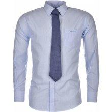 Pierre Cardin Shirt and Tie Set pánské Blue/Wht Stripe