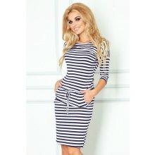 Numoco dámske šaty 13-34 pásikavé modro-biele 4103482e359