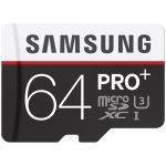 Samsung Pro Plus microSDXC 64GB UHS-I U3 + adaptér MB-MD64DA/EU