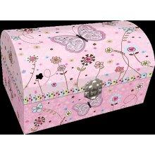 BINO darčeková súprava v šperkovnici so zrkadielkom motýľ