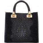 27fb606688 Talianska pracovná kožená kožená kabelka do ruky čierna Parisa