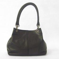 kabelka z jemnej kože do ruky -Sněžka 4807-60 čierna