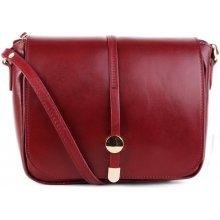 Talianske kožené kabelky stredné bordová Aurelia dd8d0f6bf94