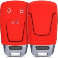 Kľúčenka Silikónový obal Audi - červená modrá afc72aea6e8