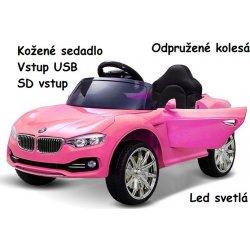 2427685473682 Joko elektrické autíčko BW cabrio kožené sedadlo Mp3 odpružené ružová