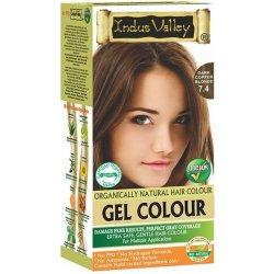 Recenzie Indus Valley Gelová barva na vlasy Tmavomedená Blond 7.4 ... 7af6ef6f843