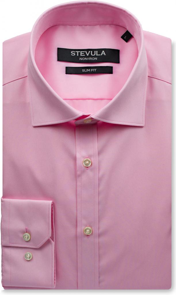4775aebd3f23 Pánska košeľa Stevula Staroružová košeľa so skrytým kontrastom