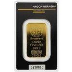 Argor Heraeus SA Švajčiarsko Investičná zlatá tehlička 31,1g