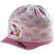 0c9b306b6 Hello kitty zimná čiapka so šiltom HELLO KITTY bielo ružové