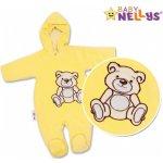 Baby Nellys kombinézka / overal medvedÍk - krémová Béžová